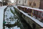 Zima v Maršovicích.