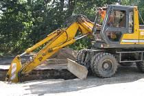 Práce na kanalizaci v Peceradech pokračují