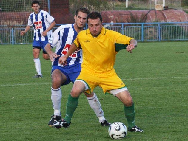 Stanislav Škvor vstřelil proti Dobříši dva góly a trenér Suchomel na jeho střelecké schopnosti bude na jaře určitě spoléhat.