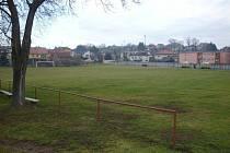 Fotbalové hřiště v Netvořicích.