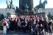 Studenti z Benešova v rakouském hlavním městě.