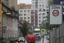 Čechova ulice v Benešově.