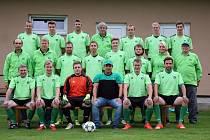 Fotbalisté Sokolu Maršovice, týmová fotografie.