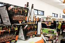 Prodejna zábavní a profesionální pyrotechniky. Archivní foto.
