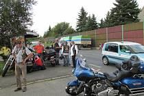 Nehoda maďarského motorkáře u Benešova.