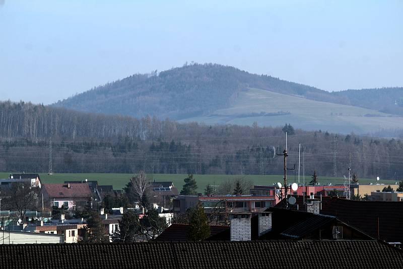 Benešov při pohledu ze střechy kostela sv. Anny - Čerčanský chlum.