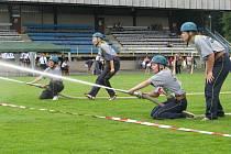 Hasičská soutěž žen - požární útoky