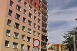 Kontejnerové stání v benešovské ulici Karla Nového.