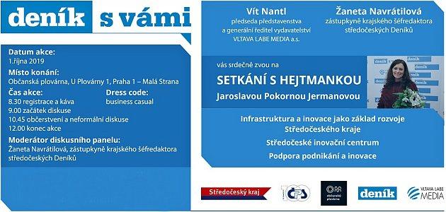Pozvání na setkání se středočeskou hejtmankou Jaroslavou Pokornou Jermanovou.