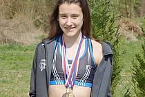 Valentýna Přibylová, velký talent vlašimské atletiky, který se prosazuje i v žákovské elitě v republice.