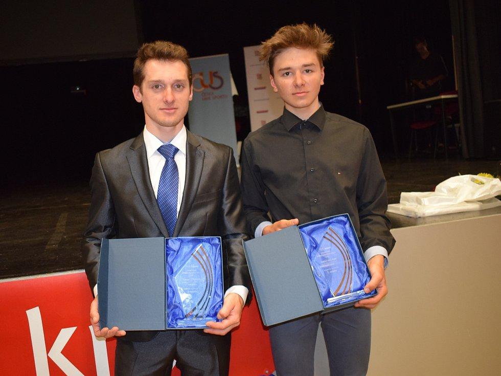 Sportovec Středočeského kraje za rok 2018: biker Tomáš Paprstka z Expres CZ Tufo Team Kolín (vlevo).