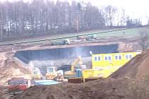 Hloubit olbramovický tunel začali stavbaři vloni v říjnu.