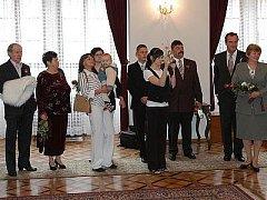 Svatba Miroslava Turka z Mnichovic a Petry Bergmanové z Křešína.