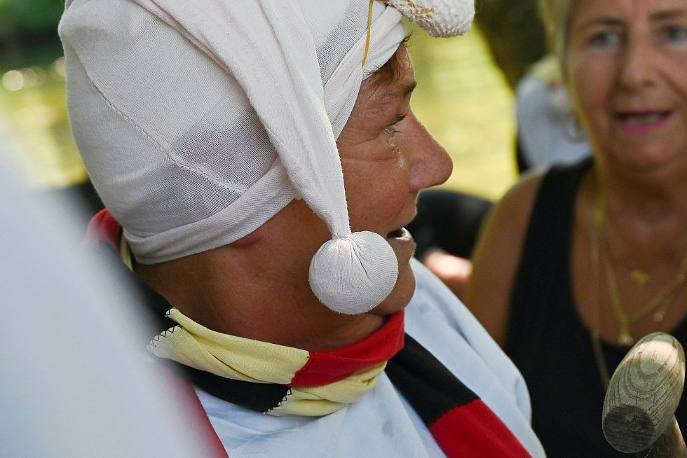 Ze třináctého ročníku Ledové neckyády v Souticích.