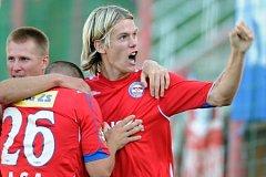 Fotbalové utkání 5. kola 1. Gambrinus ligy mezi tými Bohemians Praha a 1. FC Brno na pražském Žižkově.