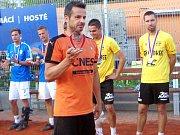 Na nohejbalovém 49. mistrovství ČR trojic mužů si opora Šacungu František Kalas odnesla cenu pro nejlepšího hráče šampionátu.