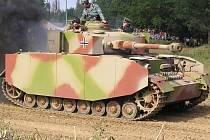 Tankový den v lešanském vojenském muzeu.