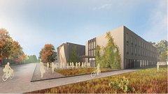 Vizualizace projektu ukazuje, jak by hala i hotel vypadaly.