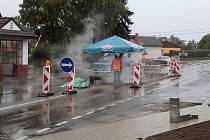 Výstavba chodníků v Bukovanech.
