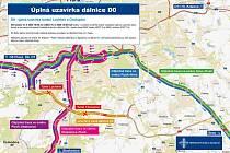 Plán objížděk při uzavření části Pražského okruhu