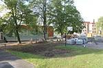 Stavební práce v týnecké základní škole.
