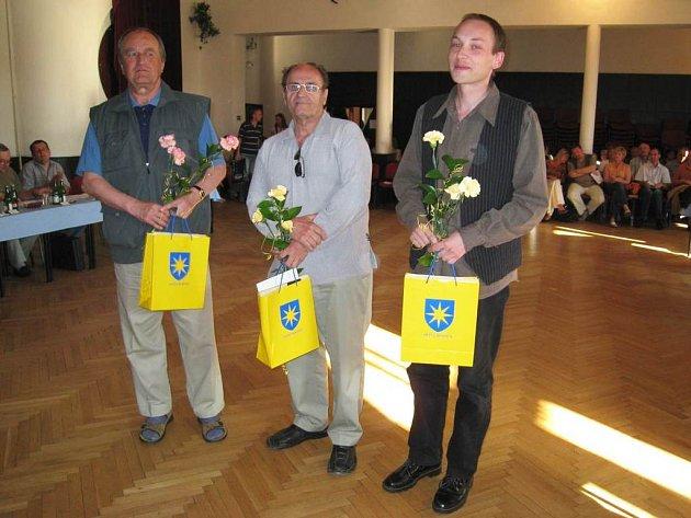 Vítěz František Vnouček (vlevo). Porota přisoudila druhé místo Ivanu Císařovi (uprostřed). Třetí místo obsadil  Martin Škvor (vpravo)