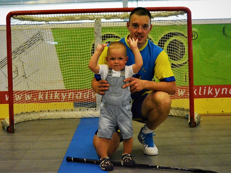 Pavel Dušek se synem.