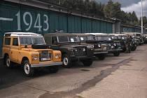 Setkání Land Roverů ve VTM Lešany