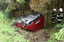 Sportovní automobil v pátek 27. května v 11.15 havaroval mezi Sedlcem a Sušeticemi.