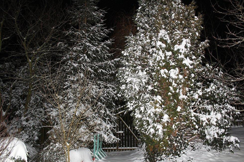 Zasněžené Pecerady v úterý 9. února 2021.
