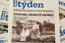 Titulní strana dvacátého třetího čísla týdeníku Benešovský týden.
