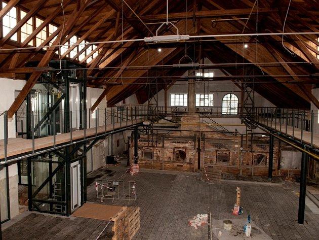 Centrum sklářského umění v Sázavě se otevře na začátku roku 2014