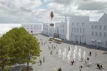 Nejlepší návrhy na změnu podoby Masarykova náměstí v Benešově. 1. místo.