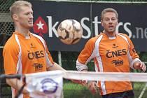 Dvojice Jiří Holub (vlevo) a Richard Makara byla hlavní údernou silou benešovského Šacungu. V semifinálové sérii nepoznala hořkost porážky ve všech pěti dílčích zápasech.