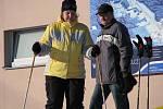 Víkedový zájem lyžařů sjezdovka na Monínci a lanovka i vleky s velkou rezervou pokryly.
