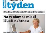 Titulní strana třicátého prvního čísla týdeníku Benešovský týden.