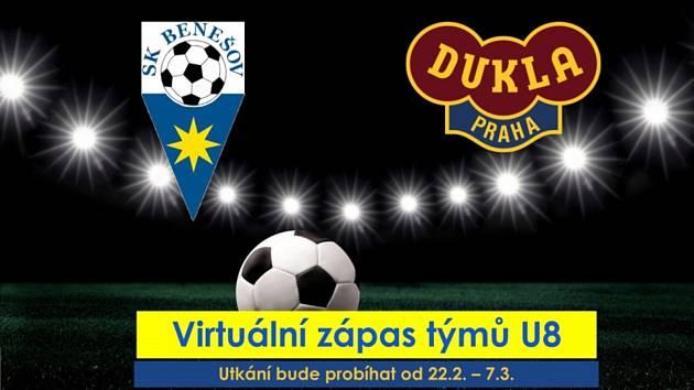 Virtuální zápas SK Benešov U8 - Dukla Praha U8.