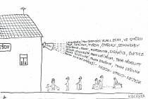Kreslený vtip Jiřího Cinkeise z Chocerad.