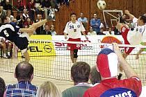Kapitán Šacungu František Kalas (na snímku s číslem 24) svůj poslední světový titul získal na šampionátu v roce 2004, hraném v Prostějově.