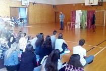 Divadelní představení Cesta do pekel v OA Vlašim.