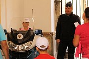 Komentovaná přehlídka Hradní stráže na Konopišti měla u návštěvníků velký ohlas.