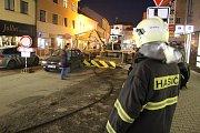 Zásah na staveništi v Tyršově ulici 22. listopadu 2017.