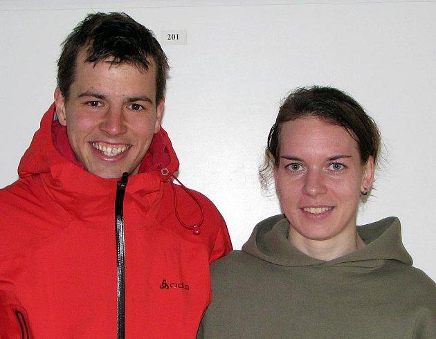 Svatojánský běh. Vítězové - Jan Procházka a Jana Šubrtová.