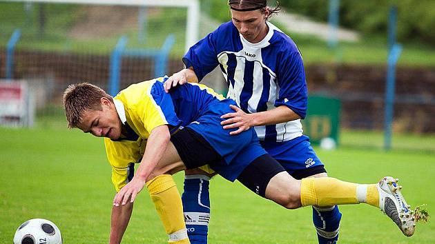 Fotbalový zápas divize staršího dorostu Benešov - Hořovicko.
