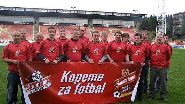 Sokol Postupice B na příbramském stadionu v projektu Gambrinus Kopeme za fotbal.