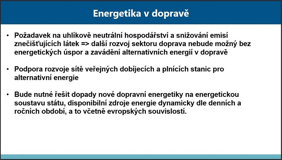 Z prezentace Luďka Sosny, ředitele Odboru strategie Ministerstva dopravy ČR: Rozvoj dopravní infrastruktury do roku 2050.