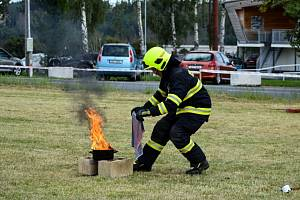 """Ze """"Dne hasičů a záchranářů"""" v Trhovém Štěpánově."""