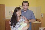 Manželé Eliška a Petr Měchurovi z Benešova jsou od 28. června šťastnými rodiči prvorozeného, malého Patrika. Ten se narodil v 11.41, kdy vážil 2880 gramů a měřil 48 centimetrů.