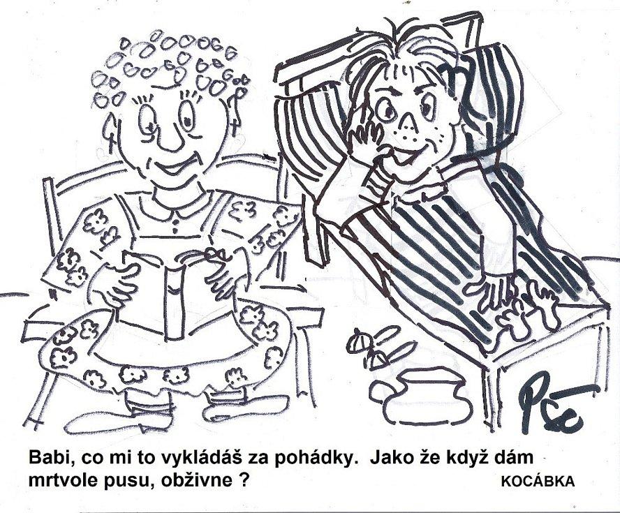 Kreslený humor Jiřího Cinkeise.