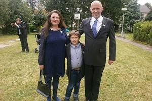 Zuzana Koubková se synem Bolkem a manželem Lubošem.
